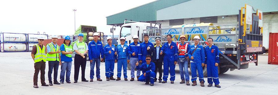 ศูนย์ความปลอดภัยควบคุมดูแลความปลอดภัยในการขนส่งสินค้า อันตรายของบริษัท Linde (Thailand) Public Company Limited